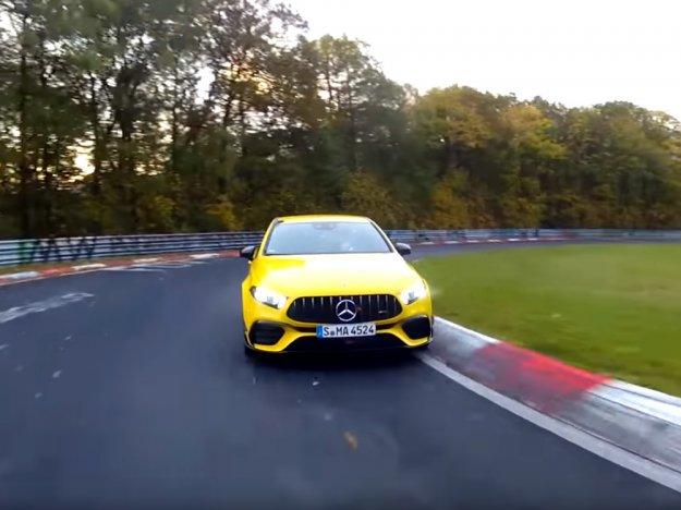 Mercedes-AMG A45 S z odličnim rezultatom na zelenem peklu