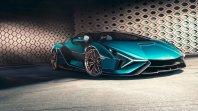 Hibridni Lamborghini Sian še brez strehe