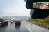 Slovenski vozniki in dež