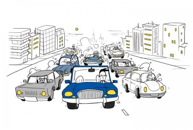 Agresivno vedenje na cesti ima verižni učinek