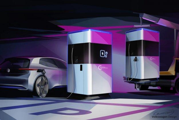 Volkswagen z mobilno polnilno postajo