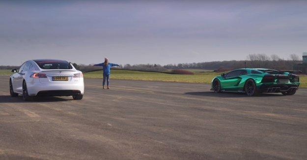 Tesla proti Aventadorju