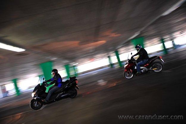 Honda NC700D Integra ABS DCT vs. Honda FJS600A Silver Wing ABS