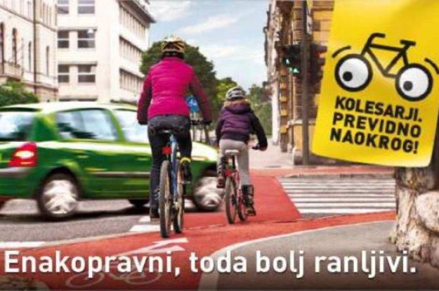 Številne aktivnosti za izboljšanje prometne varnosti kolesarjev